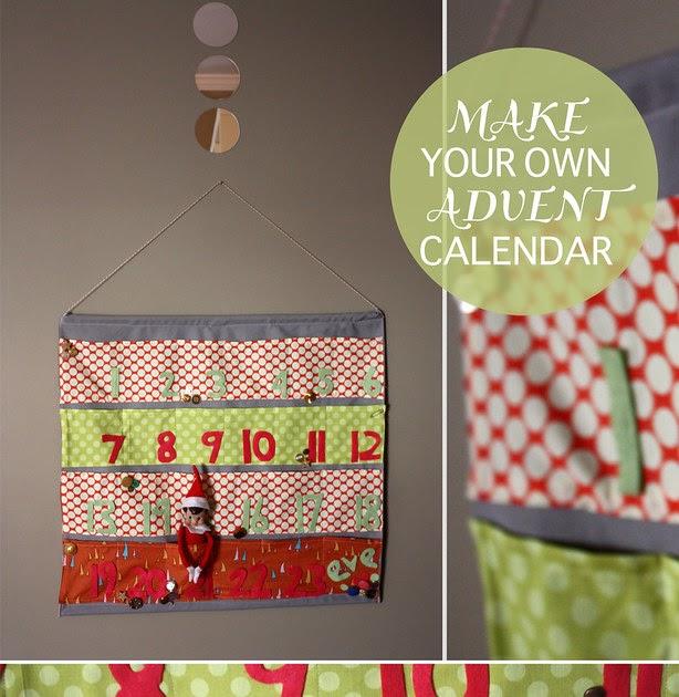 Advent Calendar Design Your Own : Homemade grits create your own advent pocket calendar