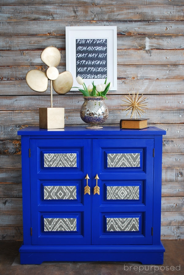 Klein Blue Cabinet with Arrow Handles