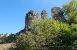 Хустський замок: західні зміцнення Верхнього двору