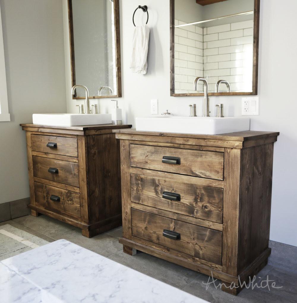 Dark Bathroom Cabinets All Wood