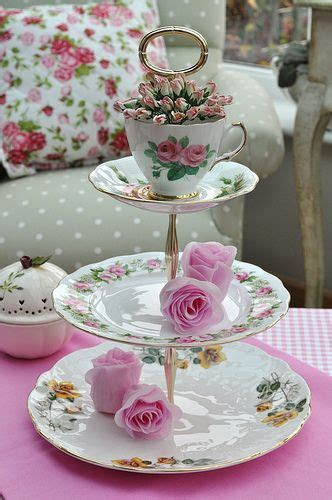 Rose Garden 3 Tier Vintage Cake Stand   Tea anyone