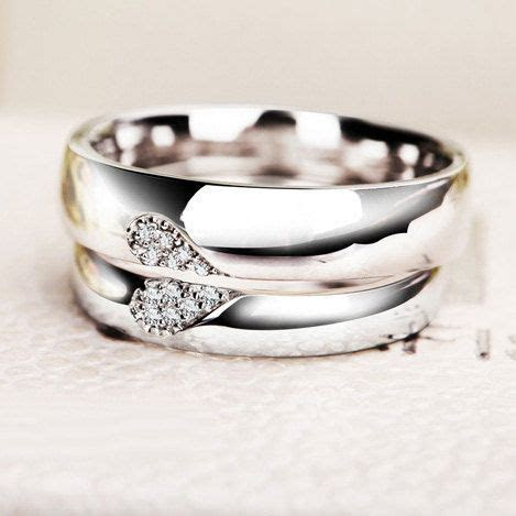 Personalized Half Heart Shaped Promise Rings by