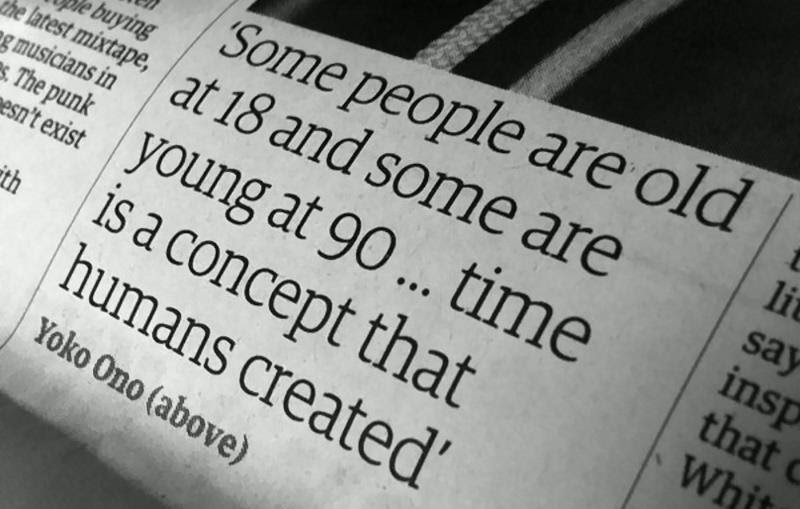 Some People Are Old At 18 And Some Are Young At 90 Time Is A Concept