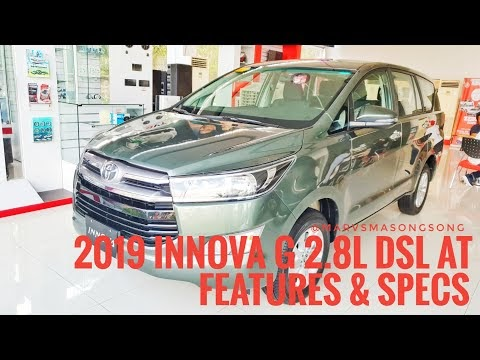 Video: 2019 Toyota INNOVA G 2.8L Dsl AT | Alumina Jade | Features & Specs (Philippines)
