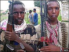 Somali guerrillas fight against the US-backed occupation of their country the Ethiopian military. Piracy has increased off the coast and millions have been displaced over the last two years. by Pan-African News Wire File Photos