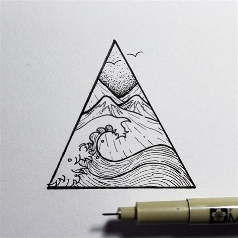 image result  wave tree mountain tattoo tattoos