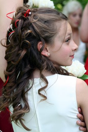 acconciature capelli bambina cerimonia - Prima comunione e altre cerimonie acconciature per bambine