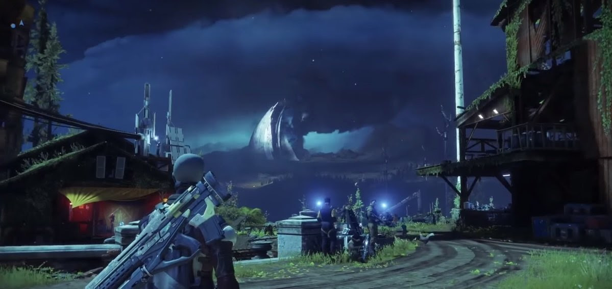 Take a look at Destiny 2's social hub 'The Farm' screenshot