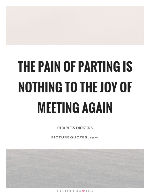 The Pain Of Parting Is Nothing To The Joy Of Meeting Again Picture