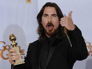 O ator Christian Bale venceu como melhor ator coadjuvante por 'O vencedor'