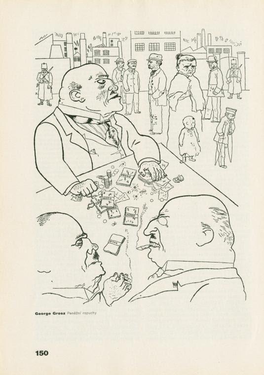 George Grosz: Peněžní ropuchy.