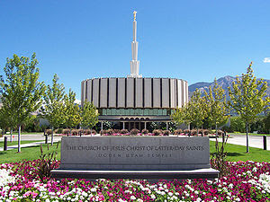 English: Ogden Utah Temple of The Church of Je...