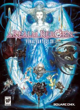 Final Fantasy XIV, A Realm Reborn box cover.jpg Fonte/Reprodução: Wikipedia