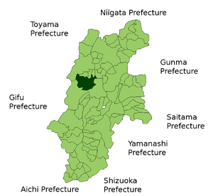 Location Map of Azumino in Nagano Prefecture, ...