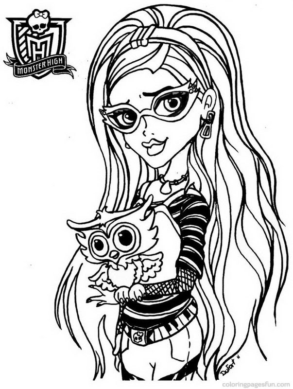 Monster High Coloring Pages Free Download Best Monster High