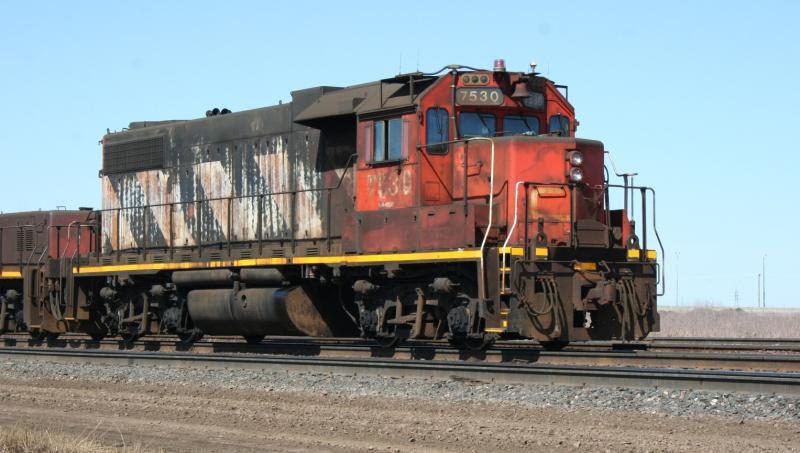 CN 7530 in Winnipeg, by Steve Vallis