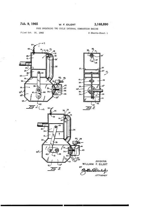 Patent US3168890 - Free breathing two cycle internal