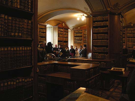 Kalocsa, Cathedral Library, main hall, exhibition opening