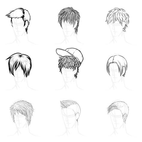 image  anime boy hairstyles