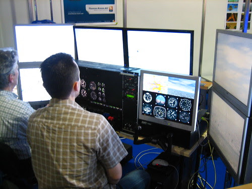 FlightGear Flight Simulator at LinuxTag Berlin 2011