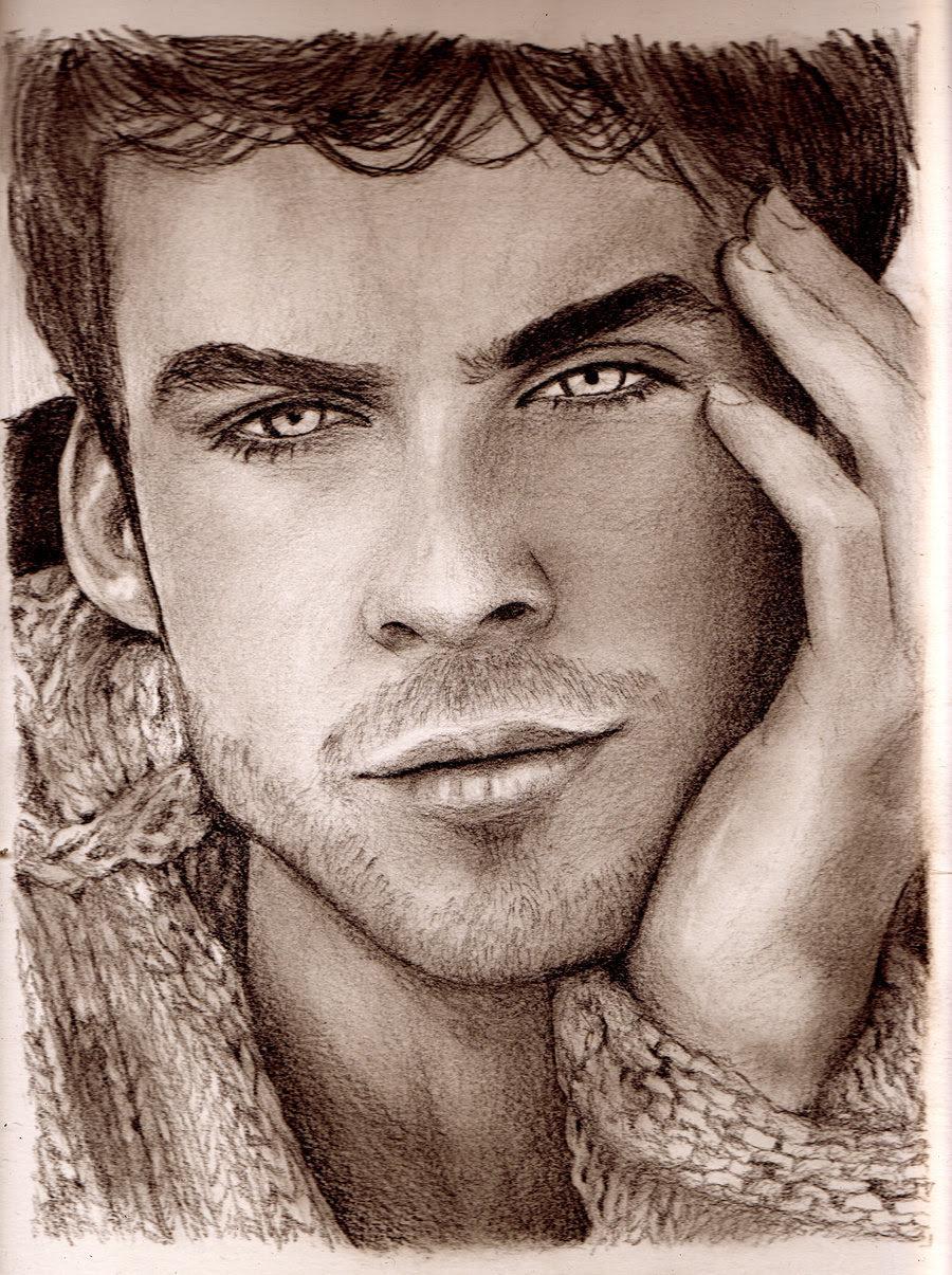 Speed Drawing Damon Salvatore - Damon Salvatore Fan Art ...