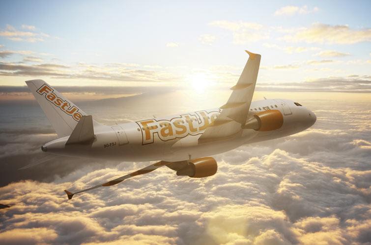 FastJet Airbus airplane
