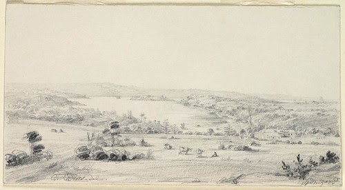 Sydney 1830 [view of Woolloomooloo Bay and Garden Island]
