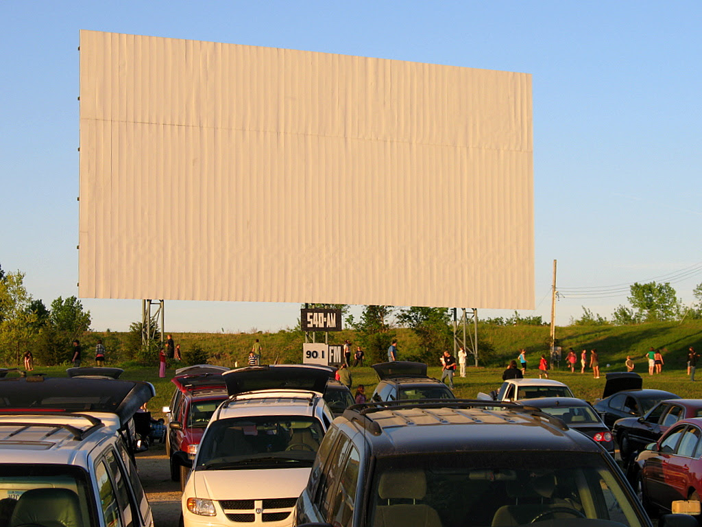 The big screen at Cottage View Drive-In theater in Cottage Grove.