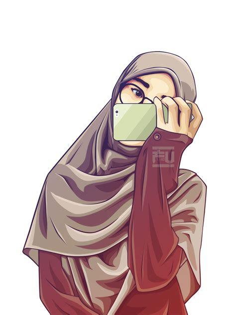 gambar kartun anime muslimah gambar kartun