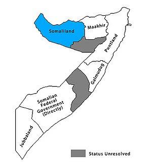 Location of Somaliland