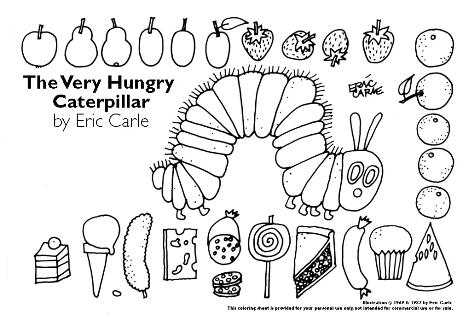 Get This The Very Hungry Caterpillar Coloring Pages Free ...