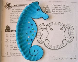 sea horses from paper plates
