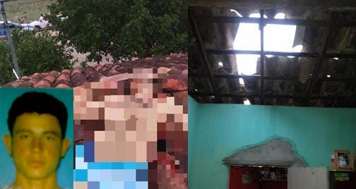 Vitíma foi morta no telhado da casa onde morava, na zona rural de monte Santo | Foto: Leitor do Notícias de Santaluz