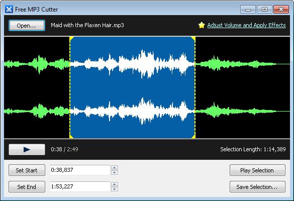 برنامج تقطيع الصوت MP3 Cutter