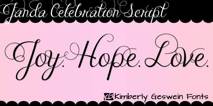 Janda Celebration Script Font