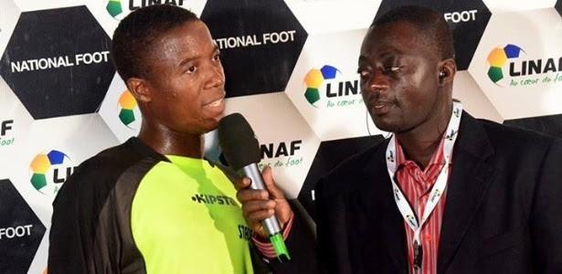 Sylvain Azougoui, de 30 anos, morreu durante partida do seu time no Gabão
