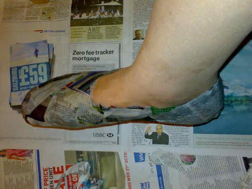 papier-mache-foot