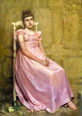 Portrait Of Lady In Pink