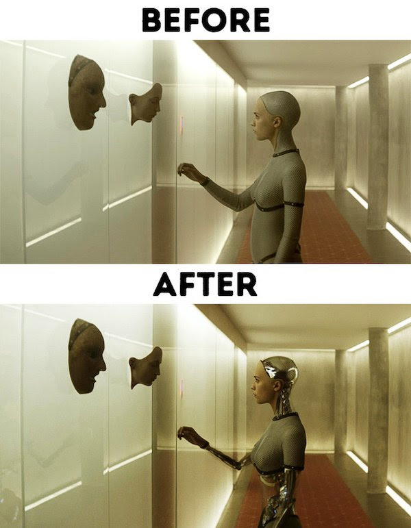 11 - 30 before and after special effects scenes