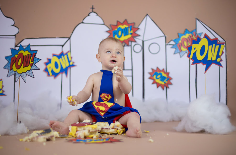 Baby Cake Smash Photography First Birthday Photoshoot In Bangalore