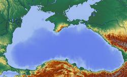 Karte der Halbinsel Krim im Schwarzen Meer