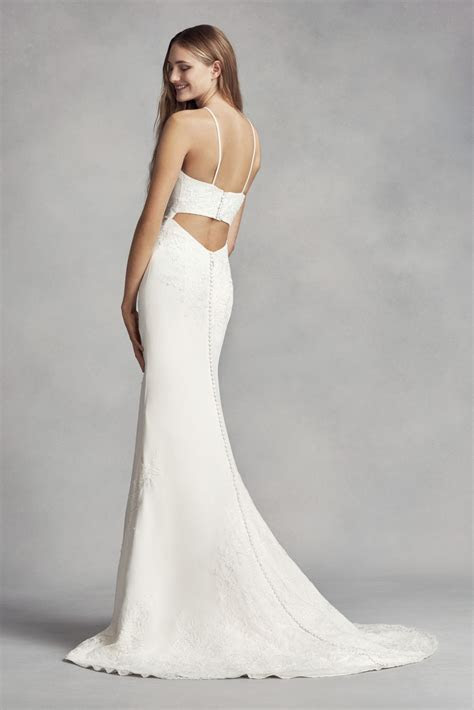 White by Vera Wang Halter Sheath Wedding Dress Style