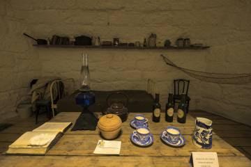 Una de las salas del museo de James Joyce en Sandycove, cerca de Dublín.