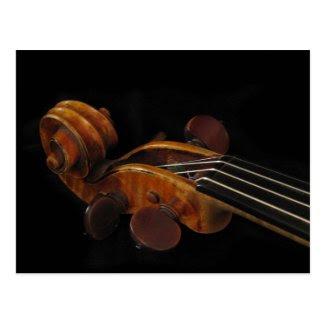 Violin Scroll Postcard