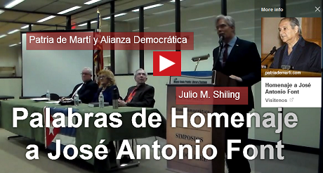 palabras de homenaje Jose Antonio Font