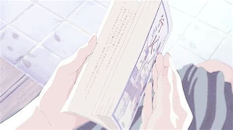 anime gif showing  book    cute