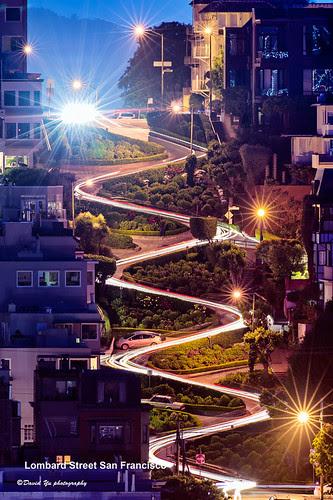 Lombard Street San Francisco por davidyuweb