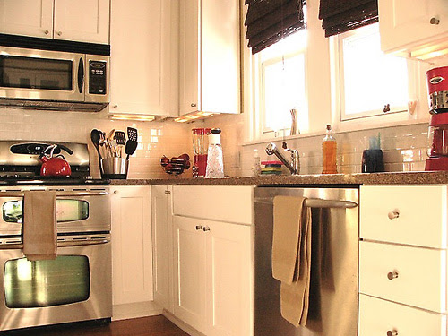 Home And Insurance Subway Tile French Country Kitchen