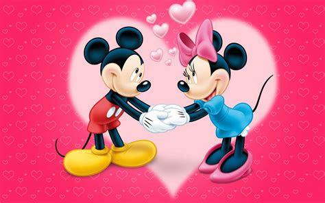mickey  minnie mouse love couple cartoon red wallpaper  hearts hd wallpaper  desktop