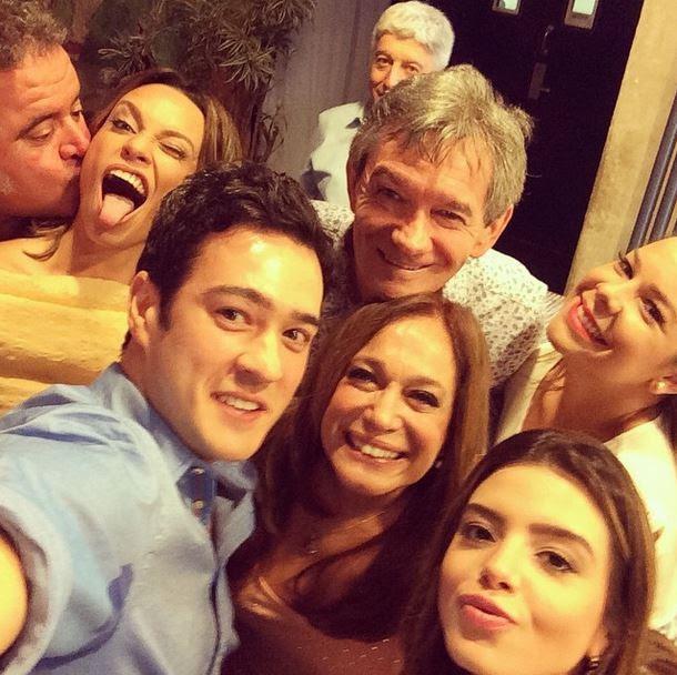 Léo Jaime, Suzana Pires, Marcos Veras, Serginho Groisman, Susana Vieira, Giovanna Lancellotti e Fernanda Souza (Foto: Instagram/Reprodução)